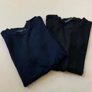 Zara Knit Tees (2 pieces)